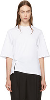 3.1 Phillip Lim White Side Piercing T-Shirt