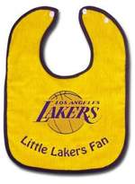 WinCraft LA Los Angeles Lakers NBA Basketball Team Infant Baby 2-Tone Snap Bib