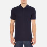 Versace Collection Collar Detail Polo Shirt Navy