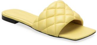 Bottega Veneta Matelasse Quilted Flat Slide Sandals