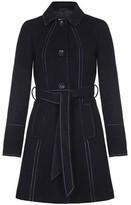 Anastasia Beverly Hills Black Womens Belted Winter Coat Black