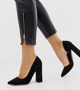 ASOS DESIGN Wide Fit Walter d'orsay high heels in black