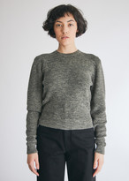 Lemaire Women's Linen Sweater in Grey Green, Size Extra Small