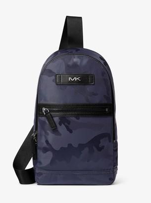 Michael Kors Kent Camo Jacquard Sling Pack