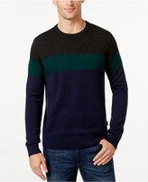 Michael Kors Men's Single-Stripe Crew-Neck Sweater