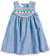 Bonnie Baby Pom-Pom Trim Dress, Baby Girls