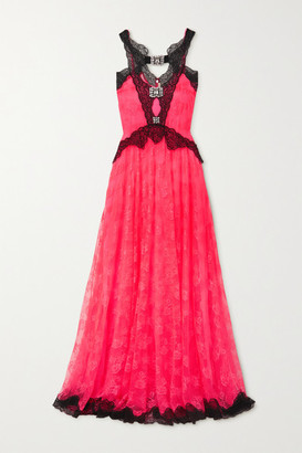 Christopher Kane Crystal-embellished Lace Gown - Pink