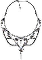 Jenny Packham Crystal & Rose Opal Pendant Necklace