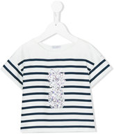 Dolce & Gabbana sequinned pineapple T-shirt - kids - Silk/Cotton/Nylon/Polyester - 10 yrs
