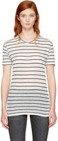 Etoile Isabel Marant Ecru and Black Striped Andreia T-Shirt
