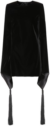 Saint Laurent Embroidered velvet minidress