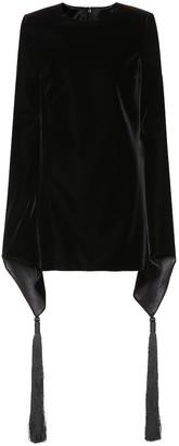 Saint Laurent Embroidered velvet minidress