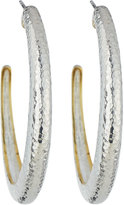 Gurhan Hoopla Large Tapered Hoop Earrings, Silver