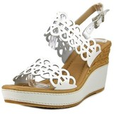 Azura Nicola Women Open Toe Synthetic White Wedge Sandal.
