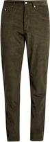 MAISON KITSUNÉ Slim-fit cotton-corduroy trousers