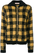 Marni checked knitted bomber jacket - women - Nylon/Wool/Alpaca - 38
