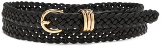 Banana Republic Skinny Braided Leather Belt