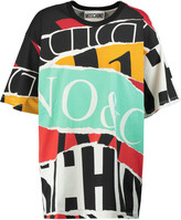 Moschino Oversized printed cotton-piqué T-shirt