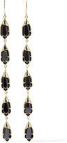 Noir Hue gold-tone cubic zirconia earrings