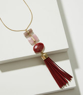 LOFT Stacked Stone Tassel Necklace