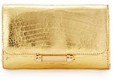 Judith Leiber Couture Sloane Mini Metallic Crocodile Evening Clutch Bag