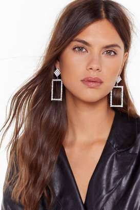 Nasty Gal Womens Tell Us Every Bling Diamante Drop Earrings - grey - One Size
