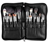 SanSiDo Makeup Brush Bag 32 Pockets Makeup Bag Professional Cosmetic Zipper PU Leather Makeup Organizer Travel Cosmetic Bag Artist Belt Strap Brush Holder (Brushes are not included)