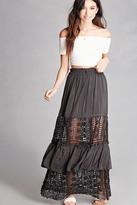 Forever 21 FOREVER 21+ Crochet Panel Maxi Skirt