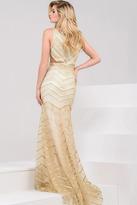 Jovani 21243 Embellished High Neck Sheath Dress