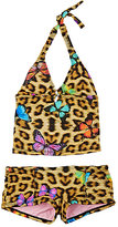 Submarine LEOPARD & BUTTERFLY TANKINI-BROWN SIZE 6