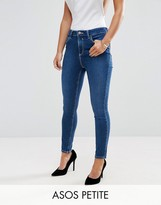 Asos Ridley Ankle Grazer Jeans in Hester Wash