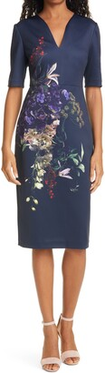 Ted Baker Carvir Floral Sheath Dress