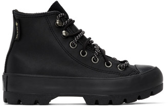 Converse Black Winter Chuck Taylor Lugged High-Top Sneakers