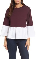 Halogen Women's Mix Knit Woven Top