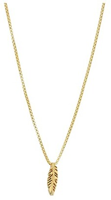 Alex and Ani Feather 18 Adjustable Necklace (14KT Gold Plated) Necklace