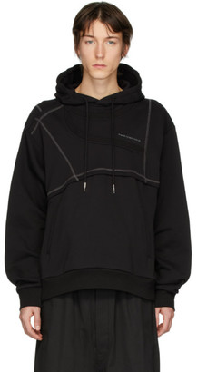 Feng Chen Wang Black Panelled Hoodie