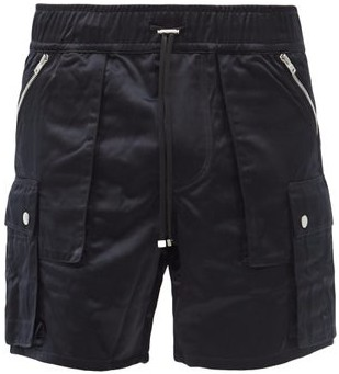 Amiri Zipped-pocket Shell Cargo Shorts - Black