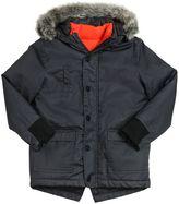 Kenzo Coated Gabardine Parka Coat & Nylon Vest