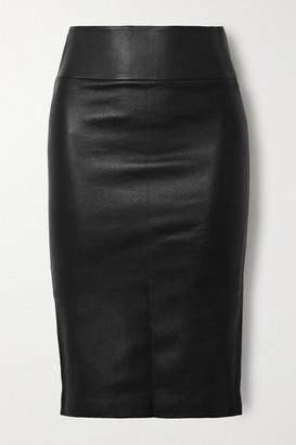 Sprwmn Stretch-leather Skirt - Black