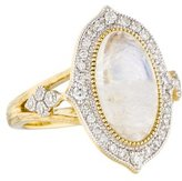 Jude Frances 18K Diamond & Moonstone Moroccan Cocktail Ring