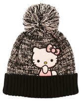 Hello Kitty Girls' Beanie - Black One Size