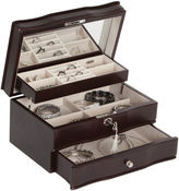Mele Davina Locking Wood Jewelry Box