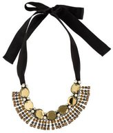 Marni Crystal & Ribbon Collar Necklace