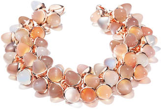 Tamara Comolli Mikado Flamenco 18k Rose Gold Multi-Moonstone Bracelet in Camel