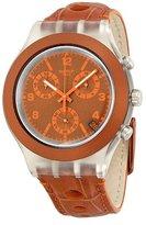 Swatch Unisex SVCK4073 Rouille Analog Display Quartz Brown Watch