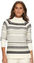 Chaps Women's Jacquard Mockneck Sweater