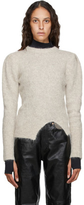 ANDERSSON BELL Beige Alpaca Puff Sleeve Rozi Sweater