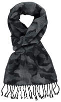 George Camouflage Print Knitted Scarf