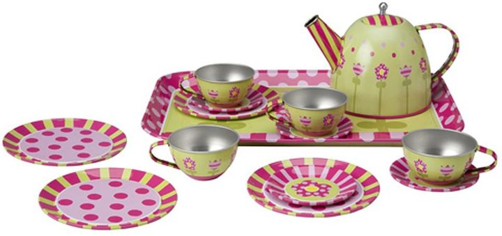 Alex 16-pc. Tin Tea Set