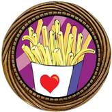 GiftJewelryShop Ancient Style Gold-plated Love French Fries Winding Pattern Pins Brooch